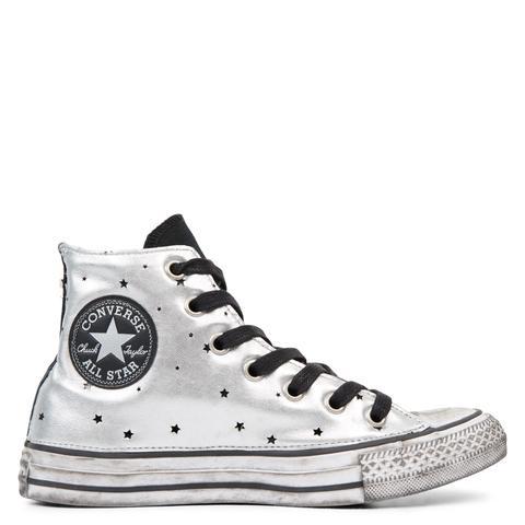 All Star Metallic Silver Star