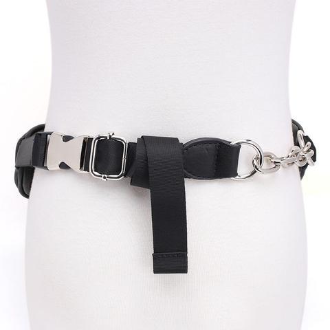 Peggy Zip Embellished Leather Waist Belt Bag - Large