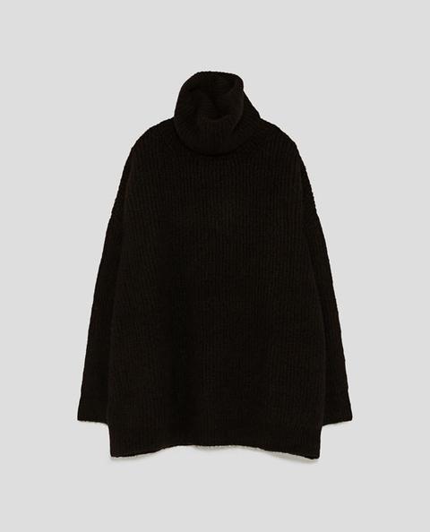 Jersey Oversize Cuello Vuelto