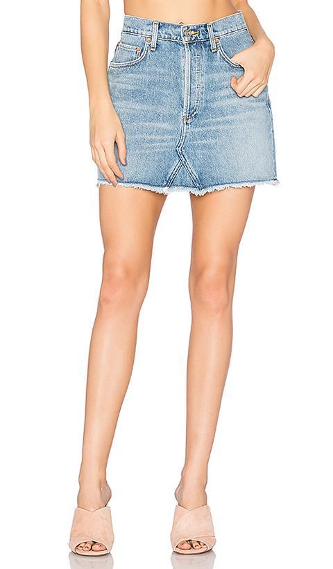 Agolde - Minifalda De Cintura Alta Quinn de Revolve en 21 Buttons