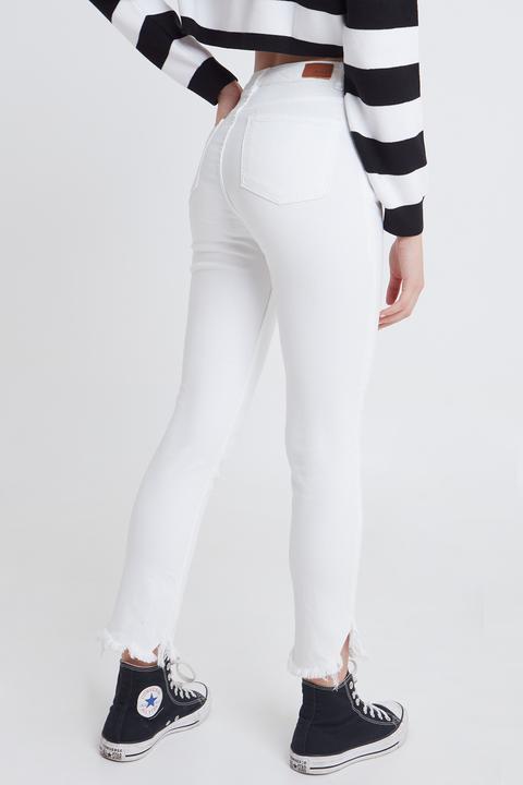 Jeans Pitillo Flecos