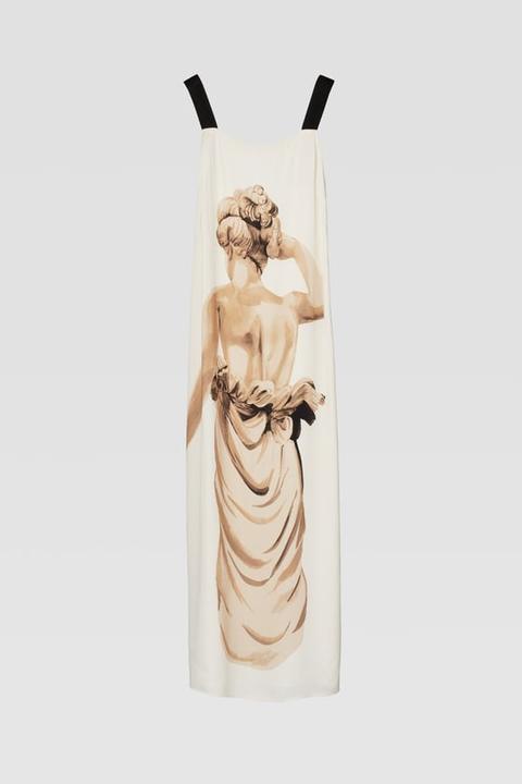 Vestido Estampado Estatua de Zara en 21 Buttons
