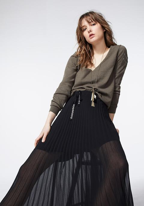 Jupe Noire Plissée Femme