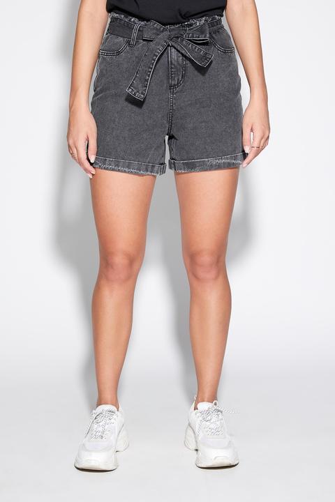 Shorts Denim Con Fusciacca