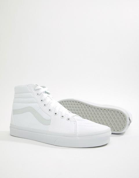 Zapatillas Blancas Sk8-hi De Vans de ASOS en 21 Buttons