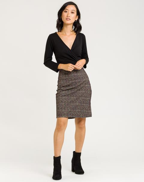 Vestido Mini Con Falda Estampada