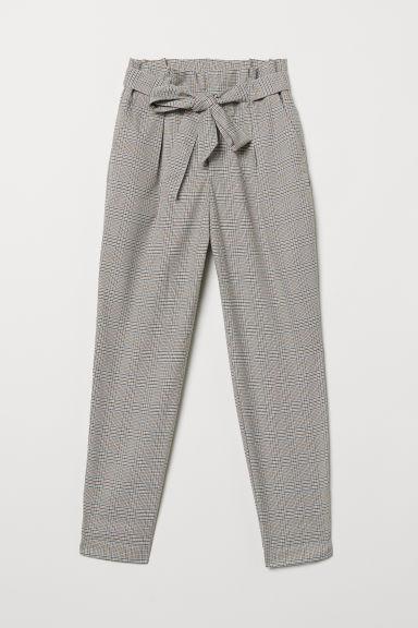 vollständige Palette von Spezifikationen beste Schuhe ziemlich cool Hose Mit Paperbag-bund - Brown - Damen from H&M on 21 Buttons