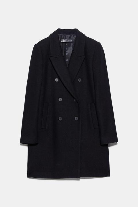 Abrigo Masculino Botones de Zara en 21 Buttons