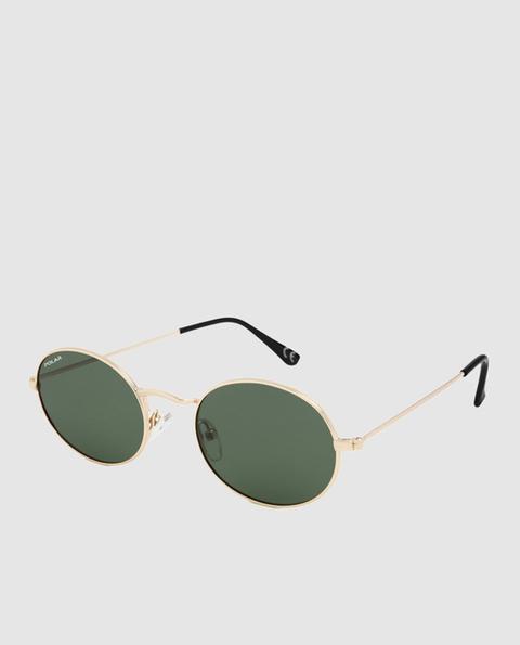 Polar - Gafas De Sol Unisex Redondas De Metal Dorado Con Lente Verde de El Corte Ingles en 21 Buttons