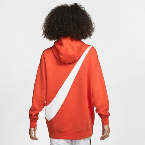 Sweatà Capuche Nike Sportswear Swoosh Pour Femme - Orange Nike sur 21  Buttons