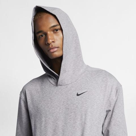 save off ef87f dc485 Felpa Pullover Da Yoga A Manica Lunga Con Cappuccio Nike Dri-fit - Uomo -  Grigio from Nike on 21 Buttons