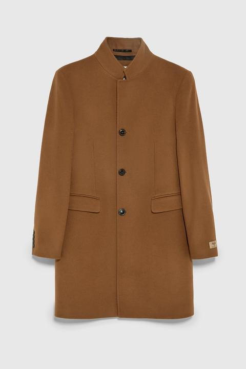 Abrigo Solapa Invertida de Zara en 21 Buttons