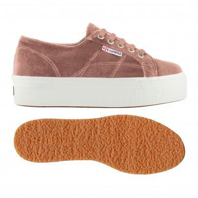 2790-velvetchenillew, 17130, Lady Shoes S00djh0 918 Pink Dusty de Superga en 21 Buttons
