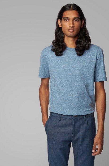 Camiseta De Cuello Redondo En Mouliné De Punto Sencillo De Algodón de Hugo Boss en 21 Buttons