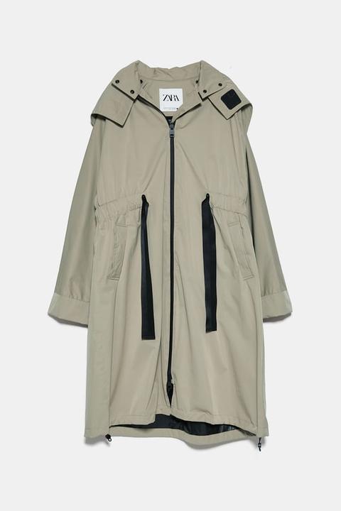 Parka Water Resistant de Zara en 21 Buttons