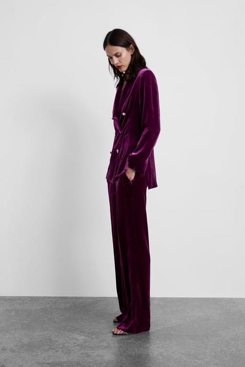 Pantalón Terciopelo de Zara en 21 Buttons