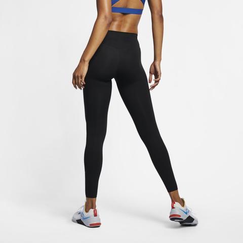 Nike One Luxe Mallas De Talle Medio - Mujer - Negro