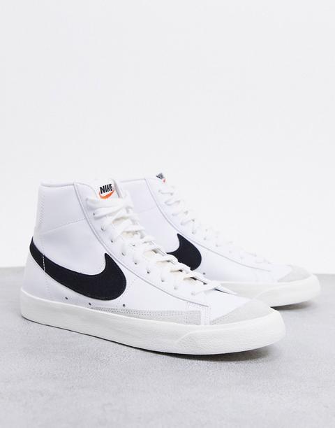 Zapatillas En Blanco Y Negro Blazer Mid '77 De Nike de ASOS en 21 Buttons