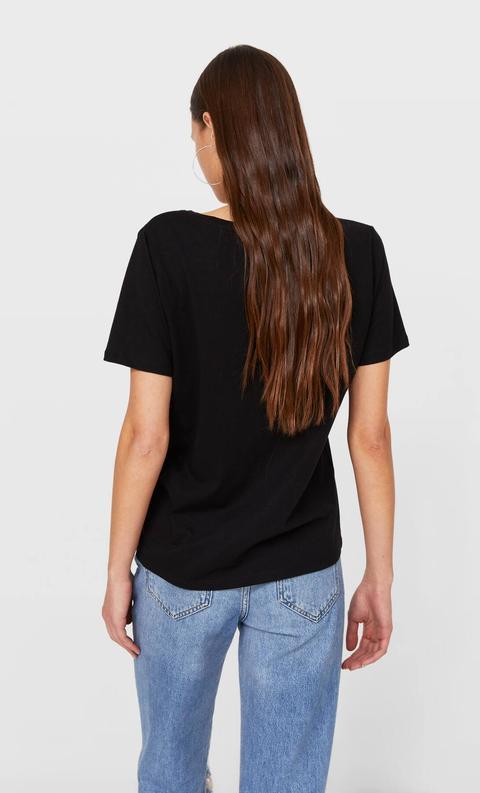 Camiseta Básica Cuello Pico