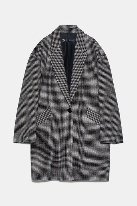 Abrigo Cuadro Vichy de Zara en 21 Buttons