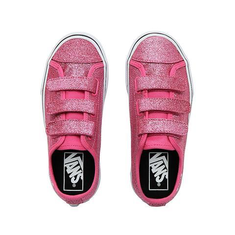 pink glitter vans kids