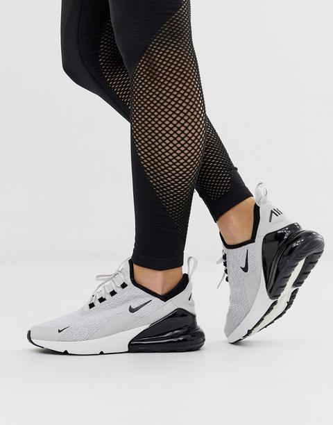 brillante en brillo clientes primero atesorar como una mercancía rara Nike White And Grey Air Max 270 Trainers from ASOS on 21 Buttons