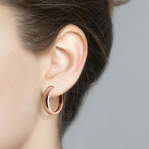 Rose Gold Smooth Mini Hoop Earrings
