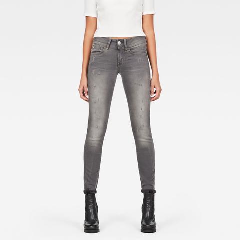 Lynn Mid Waist Skinny Jeans de G-STAR en 21 Buttons