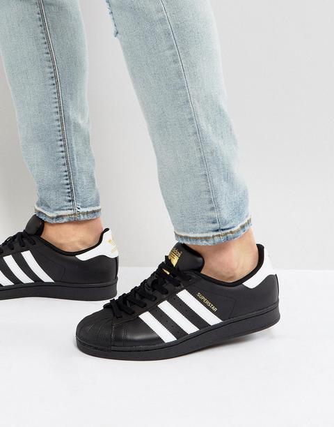 Adidas Originals - Superstar - Sneakers - Nero de ASOS en 21 Buttons