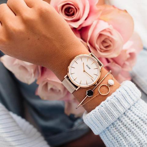 La Bohème Mesh, Rose Gold, White/rose Gold