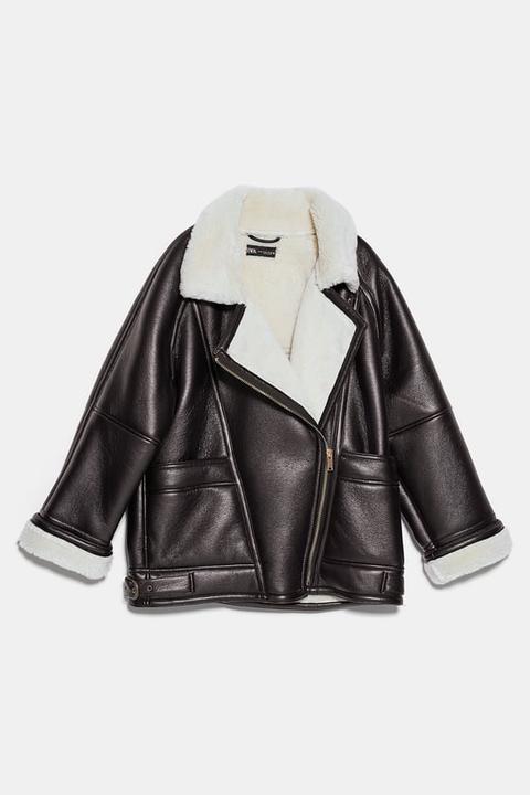 Cazadora Doble Faz Oversize de Zara en 21 Buttons