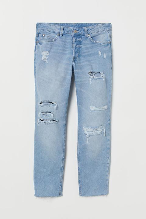 H & M - Boyfriend Low Jeans - Azul