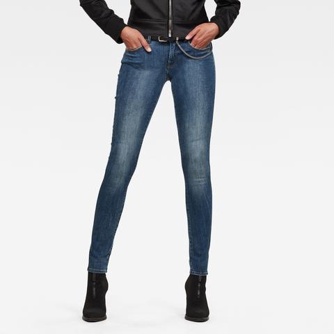 G-star Raw Hombre Lynn D-mid Waist Super Skinny Jeans Azul Intermedio