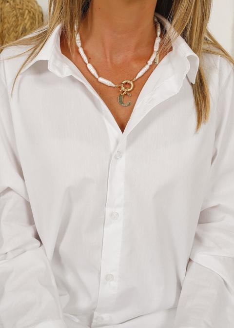 Collar Perla Barroca Inicial