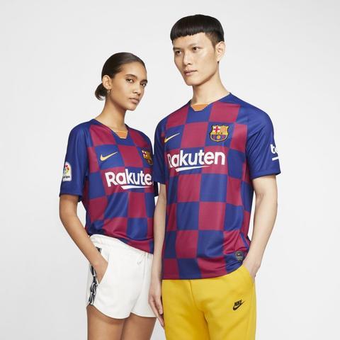Fc Barcelona 2019/20 Stadium Home Camiseta De Fútbol - Azul de Nike en 21 Buttons