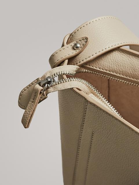 Bolso Bucket Piel de Massimo  Dutti en 21 Buttons