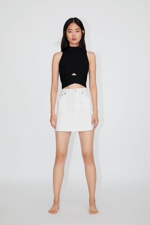 large choix de designs 100% authentique offre spéciale Mini Jupe En Jean from Zara on 21 Buttons