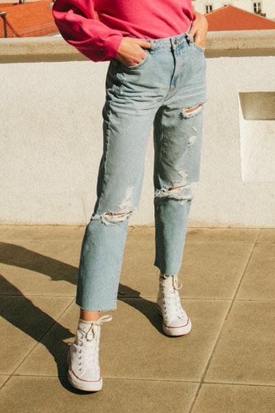 Jeans Boyfriend Rotos de SUBDUED en 21 Buttons