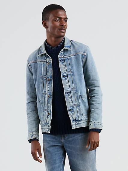 Levi's® Made & Crafted® Type Ii Worn Trucker Jacket Azul / Timoteo de Levi's en 21 Buttons