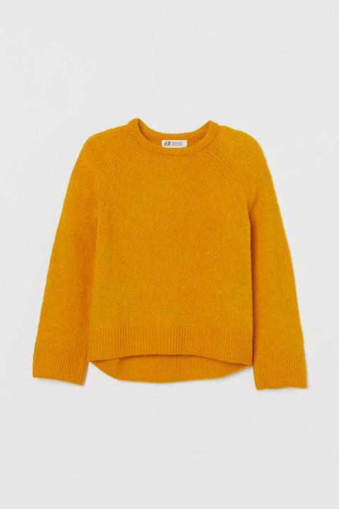 Fine-knit Jumper - Yellow