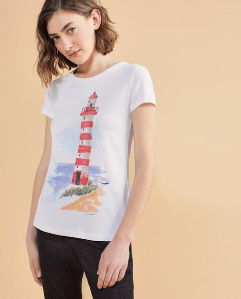 Lloyd's - Camiseta De Mujer De Manga Corta Con Estampado Delantero de El Corte Ingles en 21 Buttons