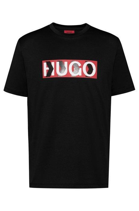 Camiseta De Algodón Con Logo Estampado De Chevrón de Hugo Boss en 21 Buttons