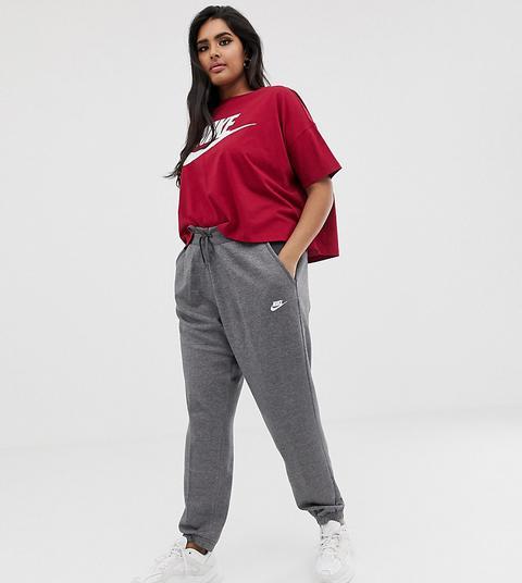 Pantalones De Chandal Grises De Nike Plus De Asos En 21 Buttons