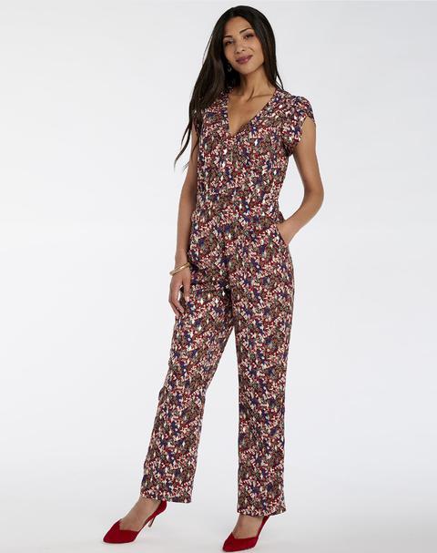 Mono Naf Naf Mujer Con Pantalón Largo, Escote Pico Y Tirantes Gruesos
