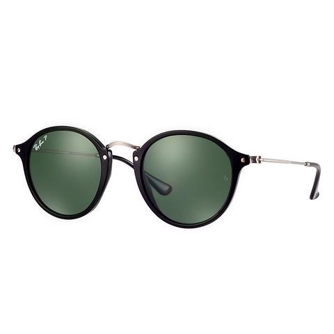 check-out e9979 3a9df Ray Ban Round Fleck Unisex Sunglasses Lenti: Verde Polarizzate ...