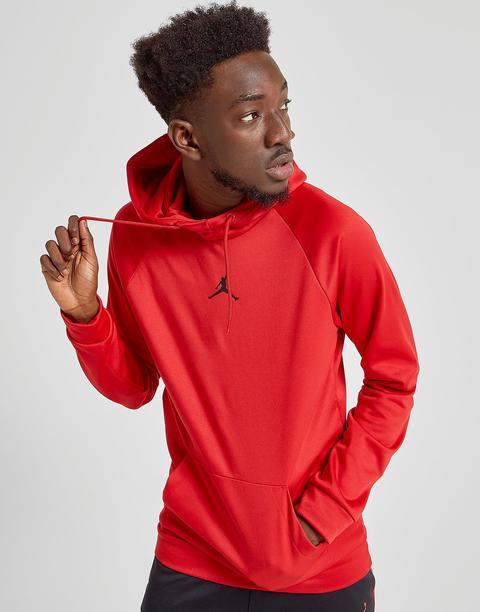 Jordan Alpha Therma Hoodie - Red - Mens