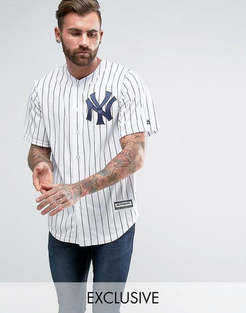 Réplica De Camiseta De Béisbol Mlb New York Yankees De Majestic