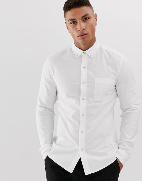 Topman Oxford Shirt In White