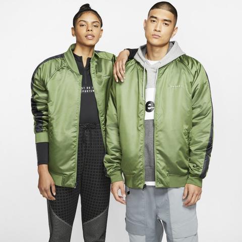 Nike Sportswear Swoosh Chaqueta Bomber De Tejido Woven - Verde de Nike en 21 Buttons