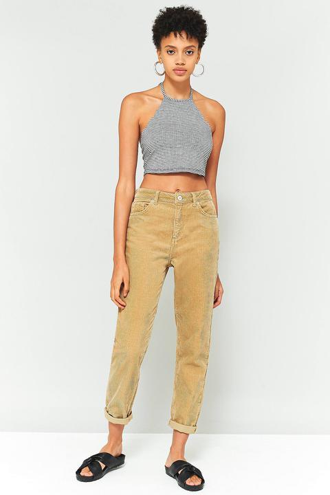 Bdg Mom Sand Corduroy Jeans - Womens 28w 30l